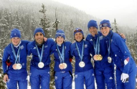 Médaillés biathlon français