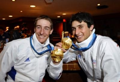 Deux médailles d'or françaises